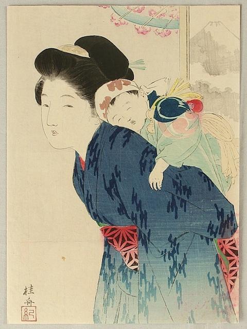 1. Takeuchi Keishu, Madre e bambino