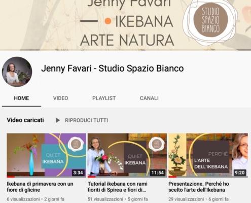Canale Youtube Studio Spazio Bianco di Jenny Favari. Ikebana, Arte e Natura